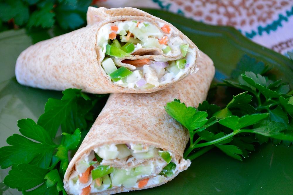 CKD diet, cream cheese wrap, wrap for kidney diet, low sodium, low potassium, low phosphorus, quick meal for kidney disease