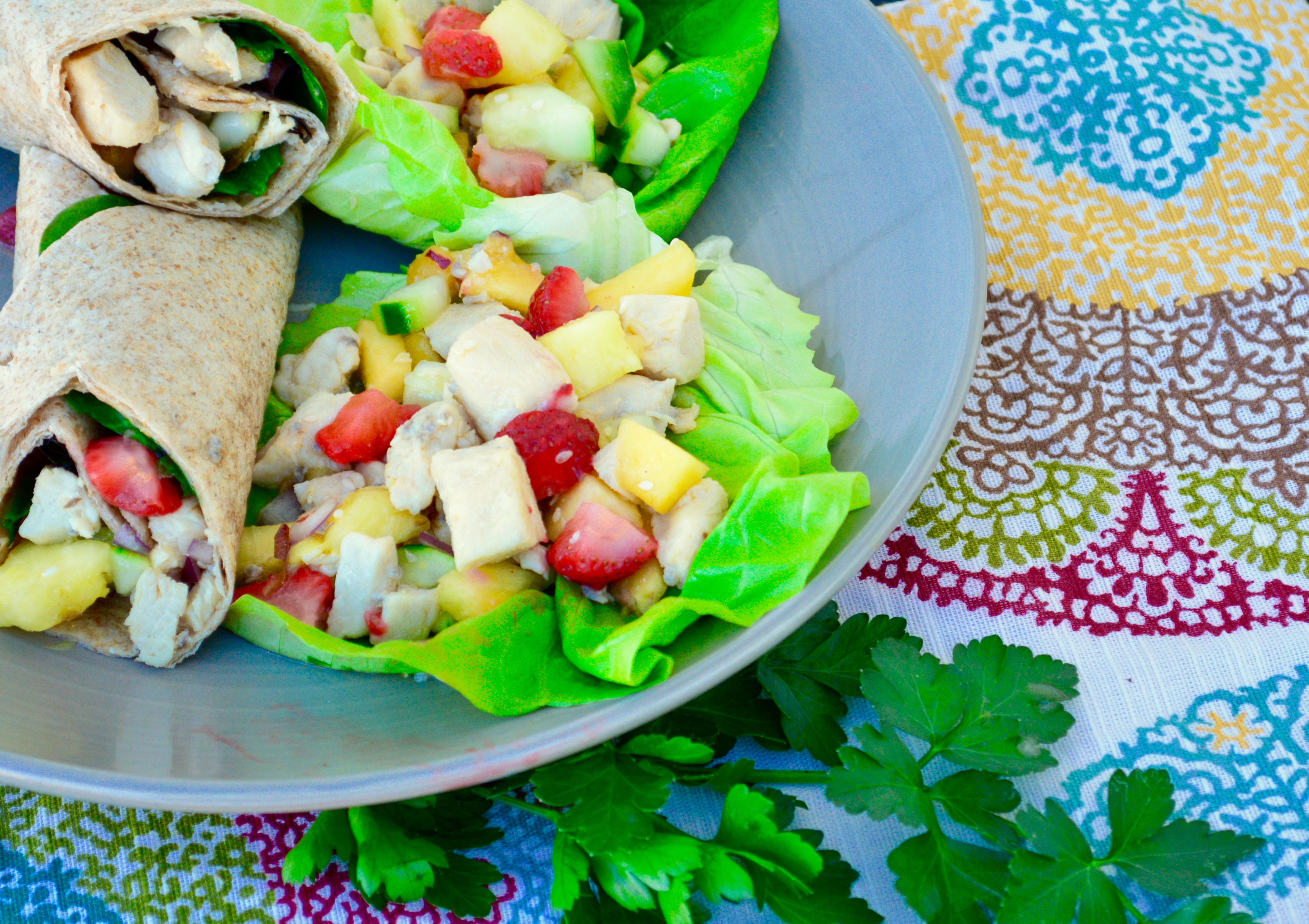 Flavorful low sodium chicken salad lettuce wrap perfect for spring low potassium low sodium low phosphorus chicken salad renal diet kidney forumfinder Image collections